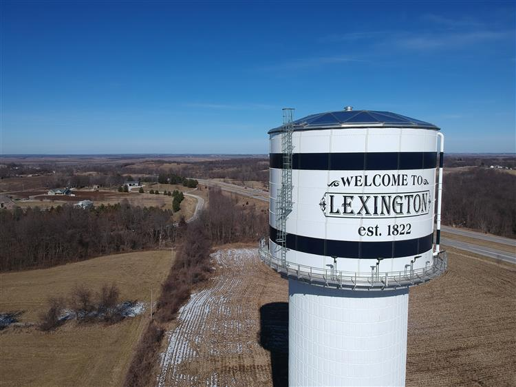 Photo of new water tower